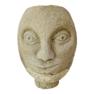Modern Substantial Concrete Face Planter Head Vase Plant Pot For Sale
