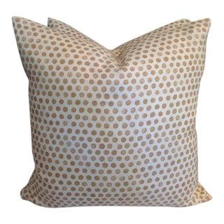 """Tan """"Tika"""" Handblocked Pillows - a Pair For Sale"""