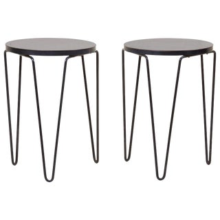 Pair of Early Original Vintage Hairpin Stacking Stools or Side Tables by Knoll For Sale