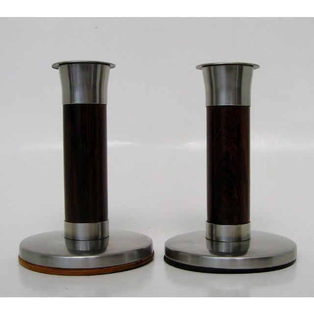 Scandinavian Candlesticks, a Pair For Sale In Los Angeles - Image 6 of 6