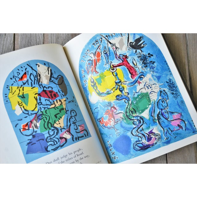 Lithograph Marc Chagall the Jerusalem Windows Hardback First Edition Book For Sale - Image 7 of 12