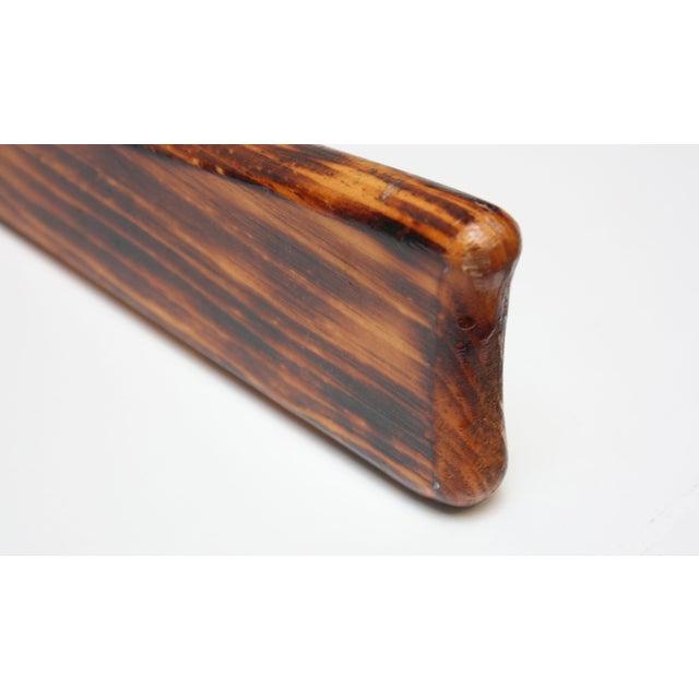 Vintage Primitive Decorative Wooden Rifle For Sale - Image 4 of 13