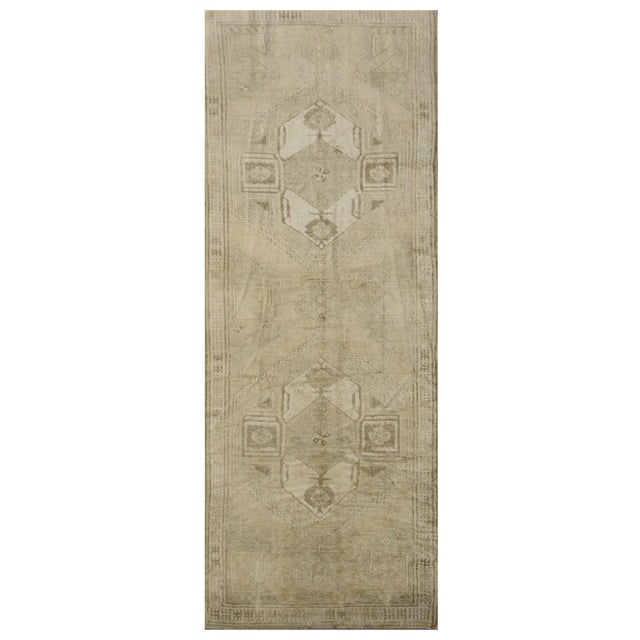 Vintage Turkish Oushak Rug - 4'1''x10'11'' - Image 1 of 4