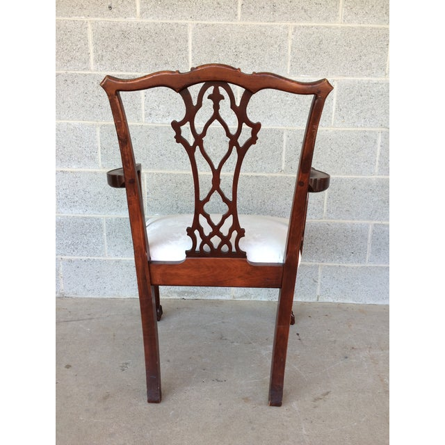 Vintage Baker Chippendale Style Ball & Claw Mahogany Dining Chairs - Set of 6 - Image 7 of 10