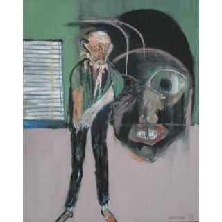 Modern Art Expressionist Oil Painting by Michael Hafftka - Meltzer & Meltzer For Sale