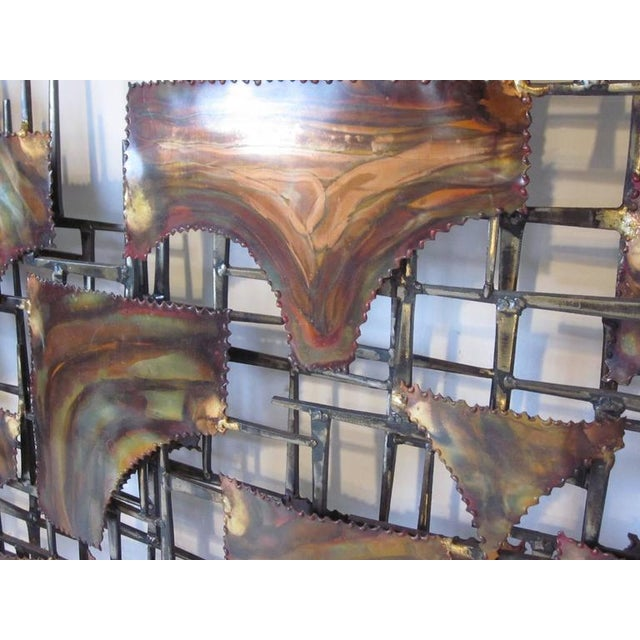 Silas Seandel Styled Large Brutalist Wall Sculpture For Sale - Image 4 of 7