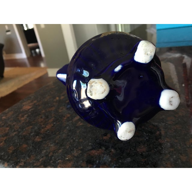 Cobalt Blue & Gold Creamer Peacock Pitcher - Image 6 of 6