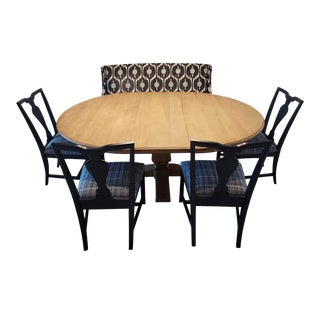 Ethan Allen Dining Table & Chairs (Bench Not Included) For Sale