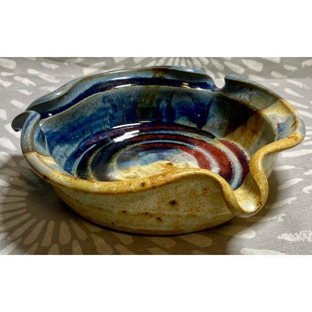 1990s Vintage Pottery Brie Baking Serving Piece For Sale - Image 4 of 4
