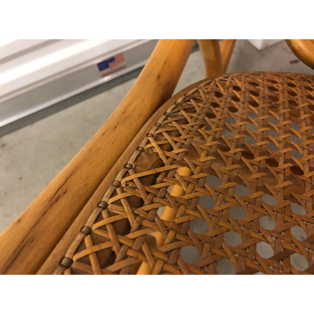 19th Century Thonet Bentwood & Cane Wood Rocker Rocking Chair For Sale - Image 12 of 13