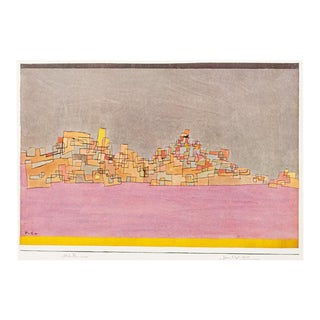 "1958 Paul Klee, First English Edition Lithograph ""City on Two Hills"" For Sale"