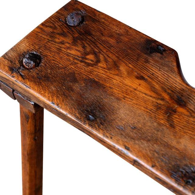 Primitive English Oak Bench For Sale - Image 9 of 10