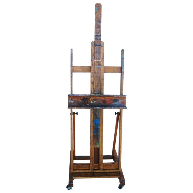 Vintage Adjustable Oak Artist's Easel - Image 1 of 11