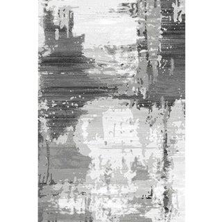 Gray Abstract Rug - 7x10