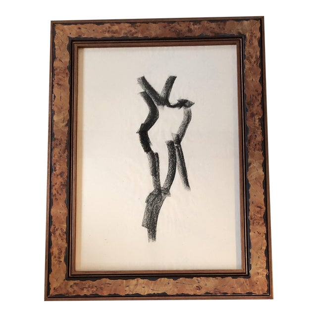 Original Vintage Abstract Female Nude Charcoal Study For Sale