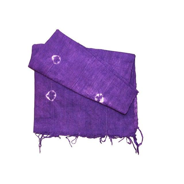 Violet Purple Mud Cloth Textile For Sale