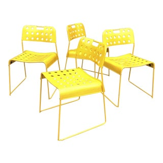 Robert Kinsman for Bieffeplast Omstak Chairs - Set of 4