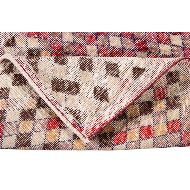 Mid 20th Century Mid 20th Century Vintage Art Deco Wool Runner Rug For Sale - Image 5 of 13