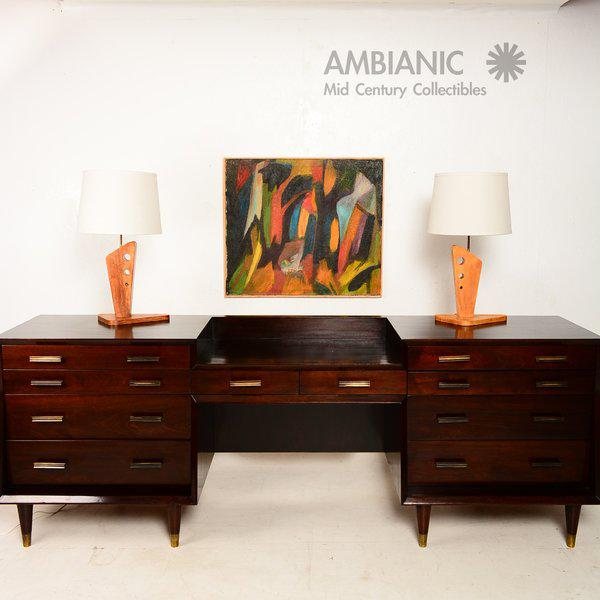 1960s Pair of Mid-Century Table Lamps by George Gin For Sale - Image 5 of 10
