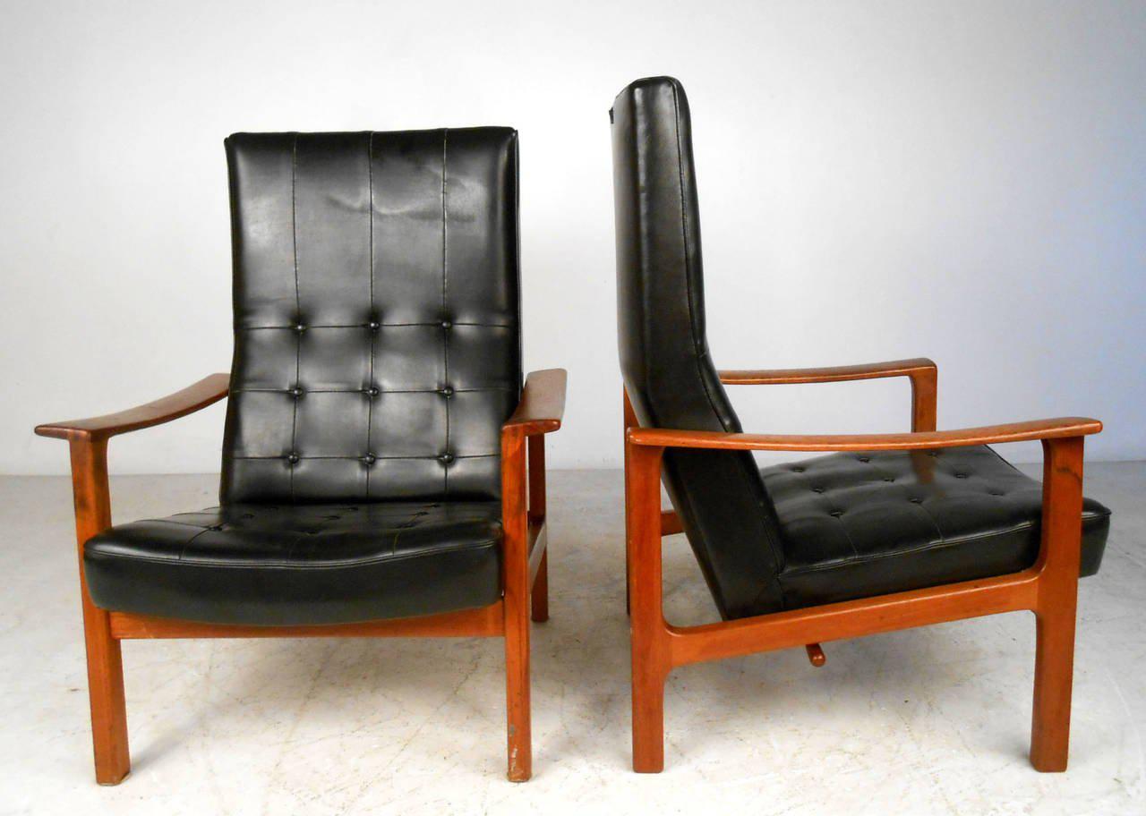 Mid Century Modern Mid Century Modern Bröderna Andersson Teak Recliner  Lounge Chairs  A