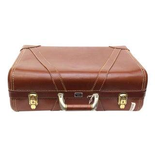 Platt Vintage Brown Suitcase For Sale