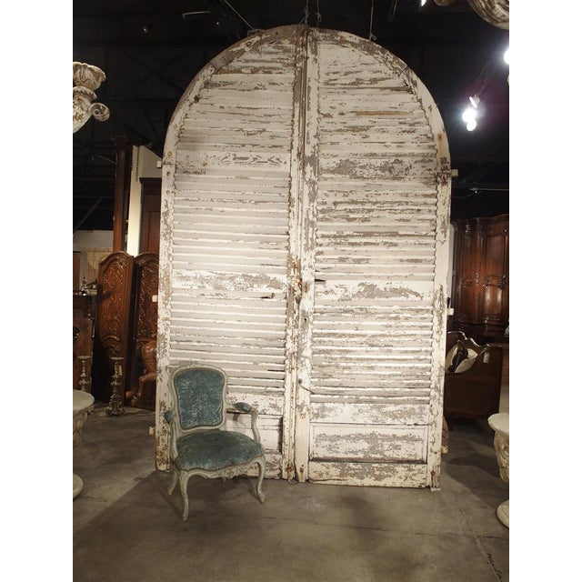 Pair of Large Antique French Door Shutters From a Chateau, 19th Century For Sale - Image 9 of 13