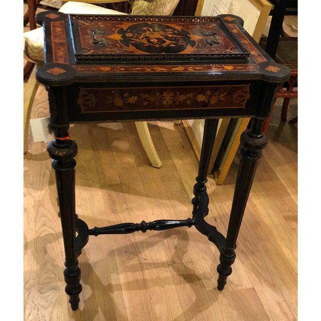 Louis XVI Antique Napoleon III Rococo Jardiniere Table C.1870 For Sale - Image 3 of 5