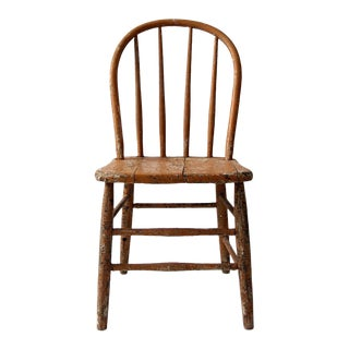 Late 19th Century Primitive Farmhouse Chair For Sale