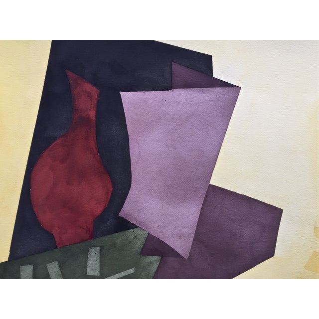 Modernist Abstract Watercolor, Roger Stokes For Sale - Image 4 of 5