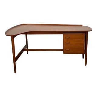 Arne Vodder for Borvirke Boomerang Teak Writing Desk For Sale
