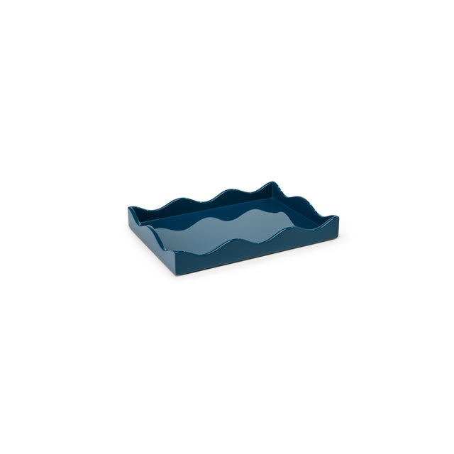 Contemporary Rita Konig Collection Small Belles Rives Tray in Marine Blue For Sale - Image 3 of 3
