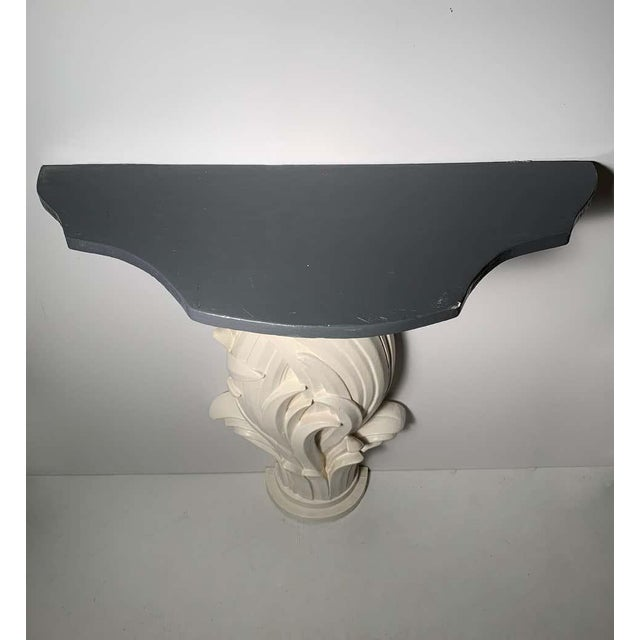 Mid-Century Modern Vintage Plaster Console in manner of Serge Roche For Sale - Image 3 of 13