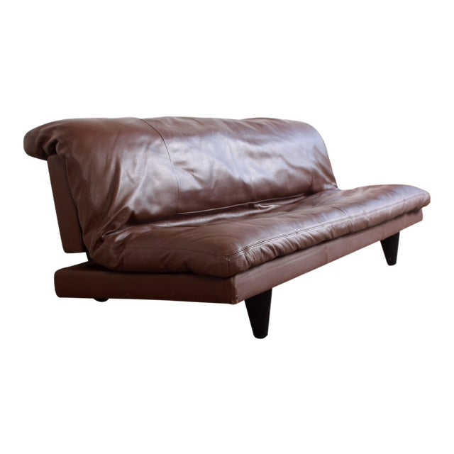 DeSede Ds169 Brown Leather Convertible Sofa For Sale