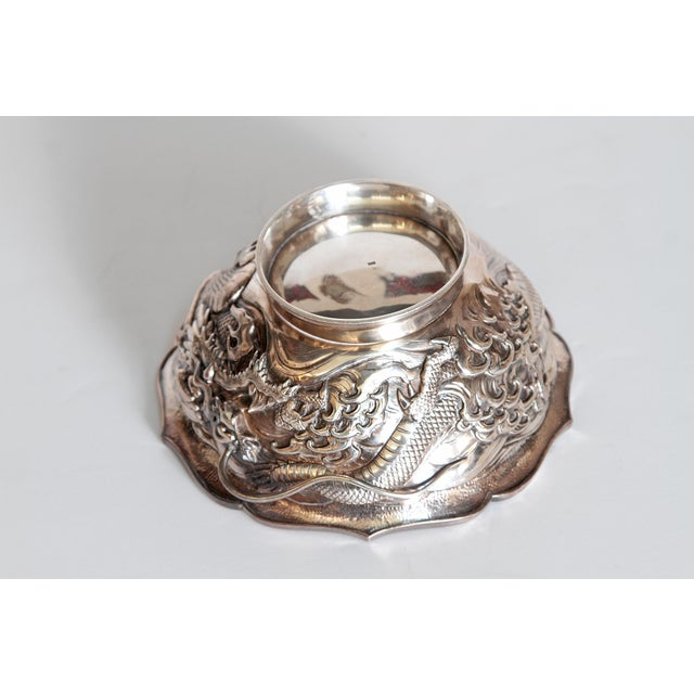 Japanese Silver Bowl For Sale - Image 9 of 13