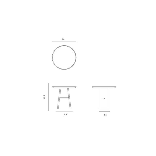 White Slant Wooden Minimalist Table For Sale - Image 8 of 8