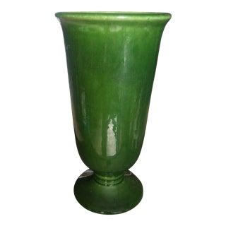 Last Call. Haeger Mid-Century Modern Green Vase For Sale