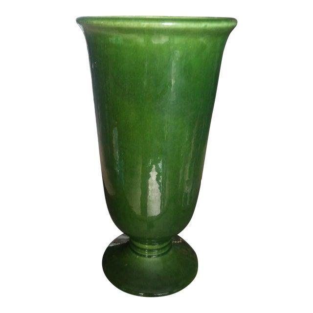 Mid Century Modern Green Haeger Vase Chairish