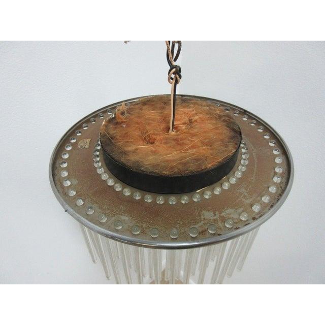 Mid-Century Modern Mid-Century Lightolier Swizzle Stick Hanging Chandelier For Sale - Image 3 of 9