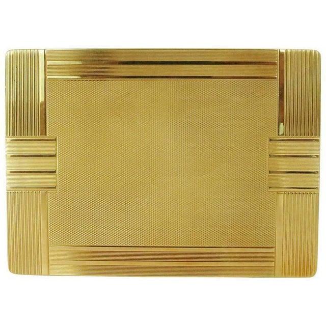 18-Karat Gold Art Deco Cigarette Case For Sale - Image 10 of 10