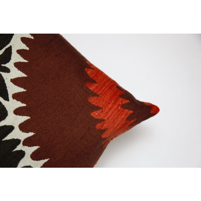 Handwoven Suzani Pillow Cover For Sale In Baltimore - Image 6 of 11