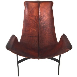 William Katalovos Leather Sling Chair