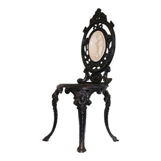 Victorian Cast Iron Chair in the French Style For Sale
