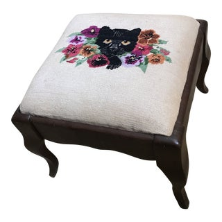 1960s Vintage Sudberry House Needlepoint Stool For Sale