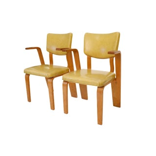 Mid Century Dining Chairs Design by Thonet- A Pair For Sale
