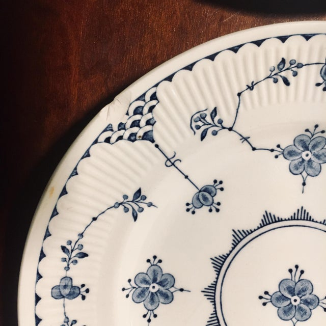 Asian Dessert/Pie Plate Denmark Blue by Franciscan - Set of 7 For Sale - Image 3 of 8