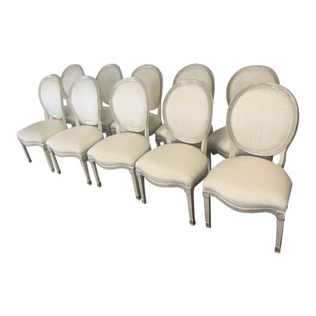 Sally Sirkin Lewis for J Robert Scott - 10 Dining Chairs - Set of 10 For Sale