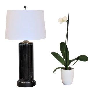 Midnight Blue/Black Column Glass Lamp 2019 by C. Damien Fox For Sale