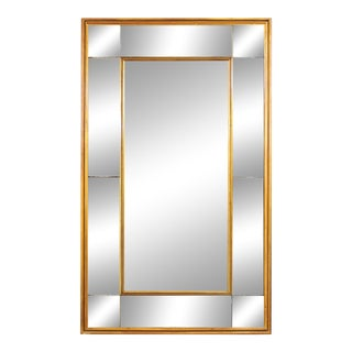 Italian Gilt Wood Frame with Separated Mirror Panels For Sale