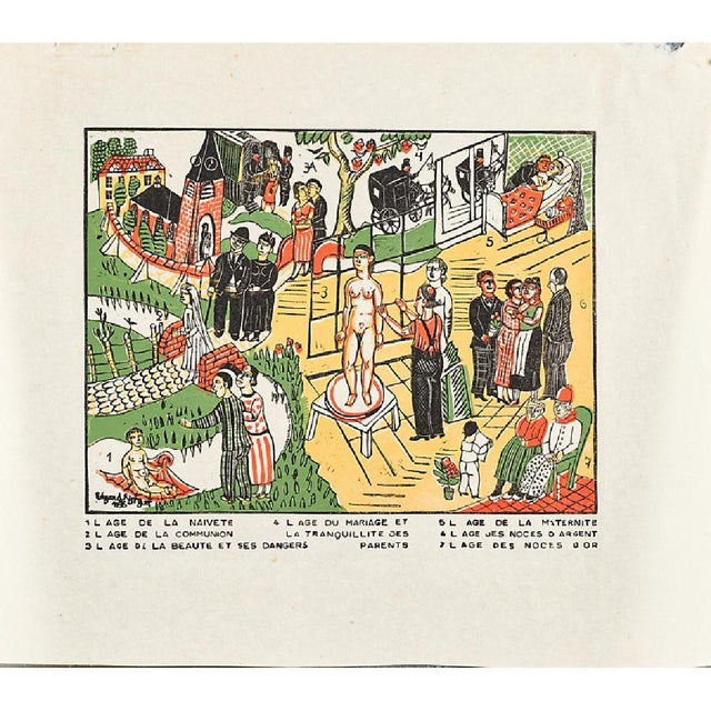 Edgard Tytgat Seven Sacraments Woodcut Print 1935 Chairish