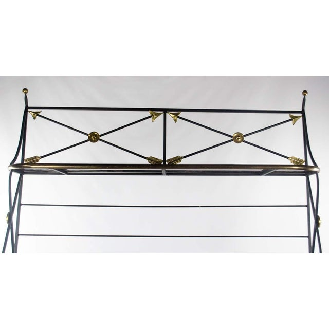 Modern Campaign Style Bakers Rack and Cabinet For Sale - Image 4 of 13
